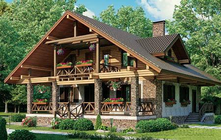 Дом в стиле шале CHL-14-06