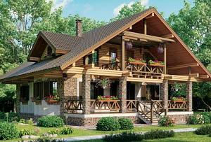 Дом из бревна BV-14-01 300 200