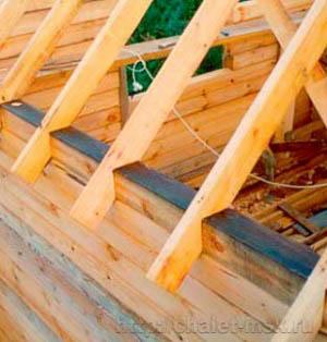 Сооружение крыши деревянного дома