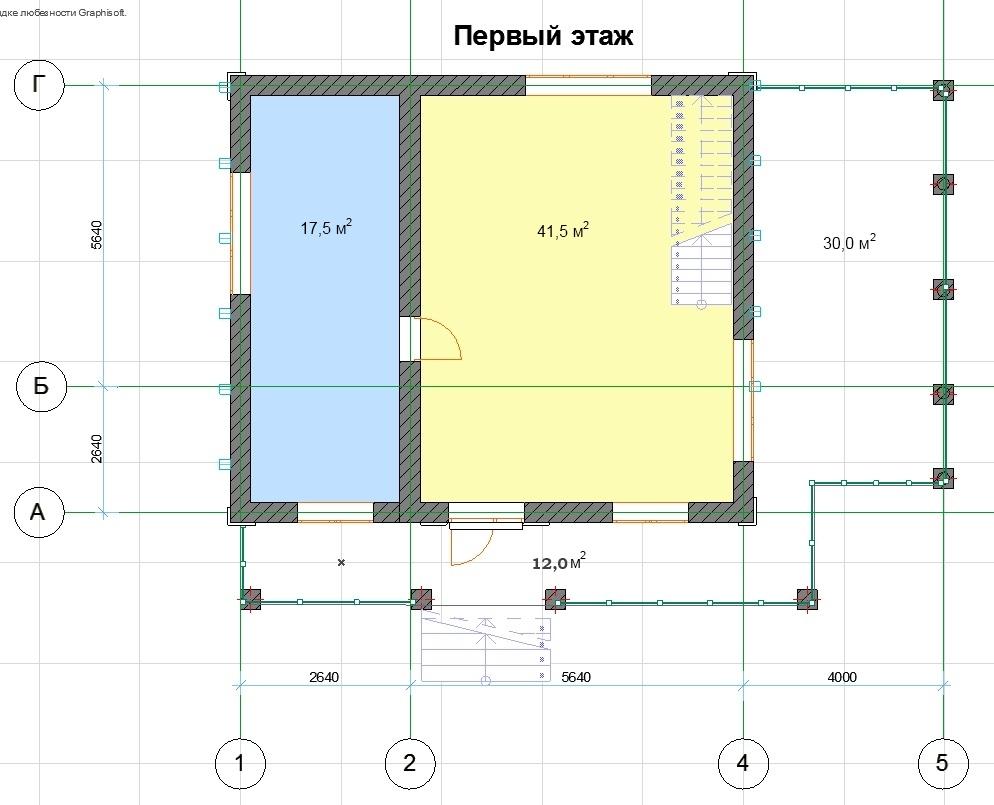 Строительство дома в стиле шале CHL-14-05 1 этаж