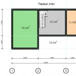 Проект дома в стиле шале chl 14 04 1 этаж