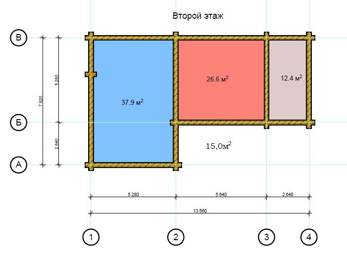 Проект дома в стиле шале chl 14 04 2 этаж