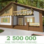 Проект дома в стиле шале chl 14 04 фасад