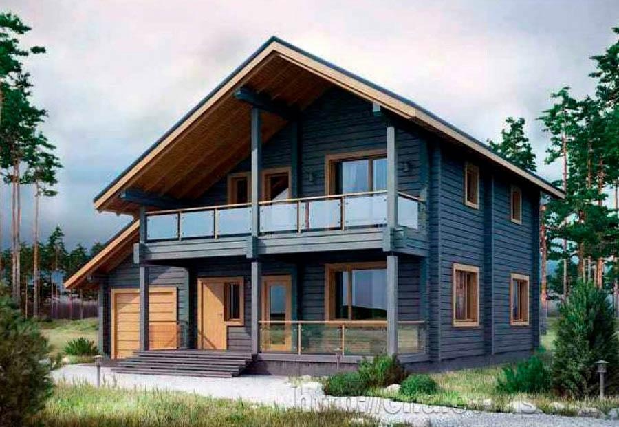 Дом из бруса BRS-15-01 общий вид