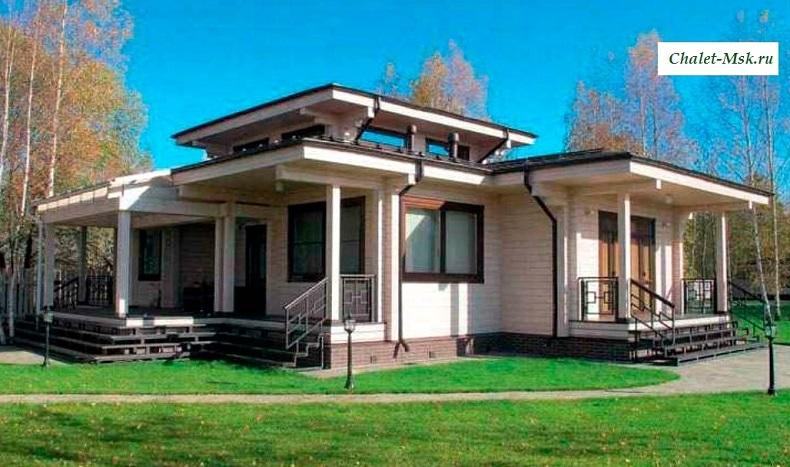 Дом из бруса BRS-15-03 общий вид