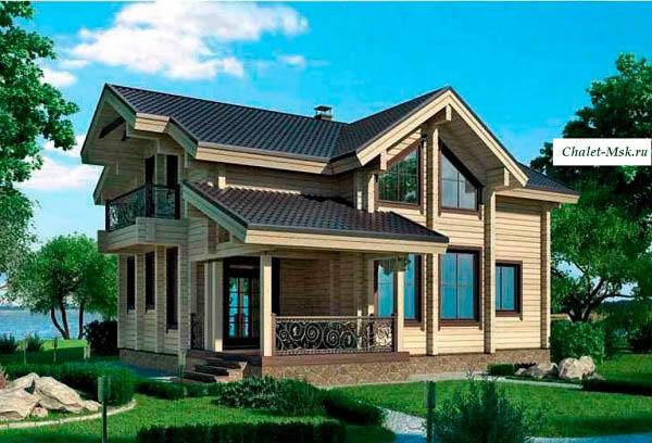 Дом из бруса BRS-15-05 общий вид
