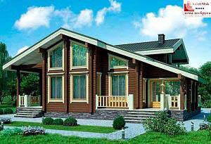 Дом из бруса проект BRS-15-06