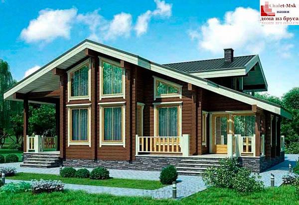Дом из бруса BRS-15-06 общий вид