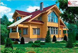 Дом из бруса проект BRS-15-08