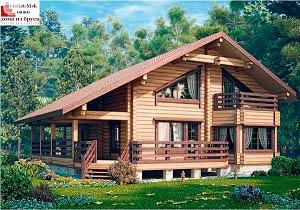 Дом из бруса проект BRS-15-09