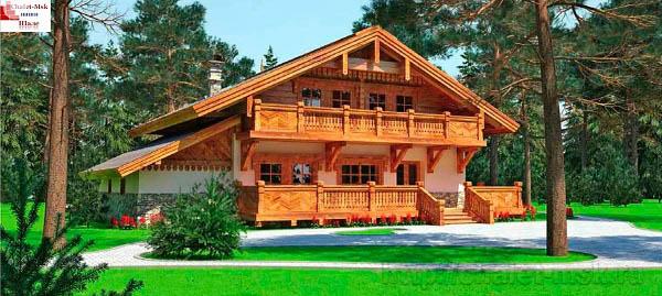 Дом в стиле шале chl-14-07 общий вид