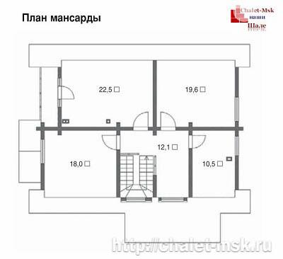 Дом в стиле шале chl-14-08 2 этаж