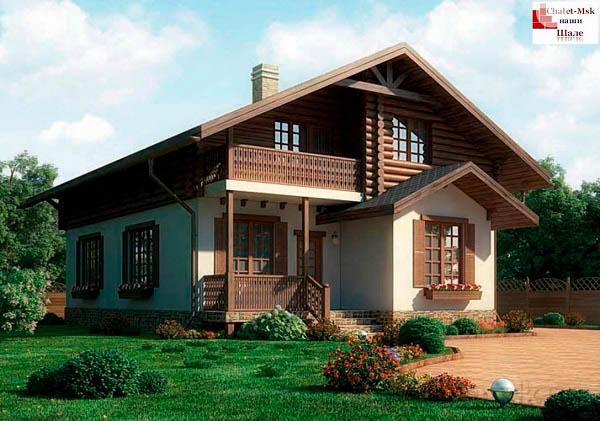 Дом в стиле шале chl-14-08 общий вид