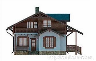 Дом в стиле шале chl-14-08 вид 1