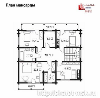Дом в стиле шале chl-14-02 2 этаж