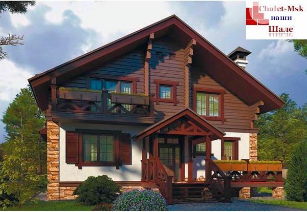 Дом в стиле шале chl-14-02 общий вид