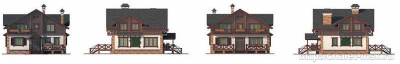 Дом в стиле шале chl-14-02 виды