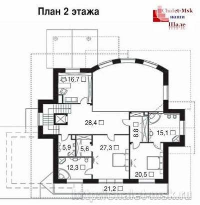 Дом в стиле шале chl-14-03 2 этаж