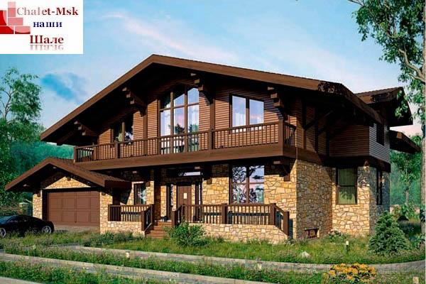 Дом в стиле шале chl-14-03 общий вид