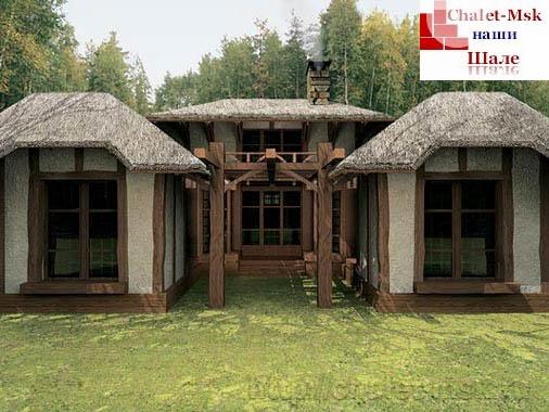 Дом в стиле шале chl-14-01 общий вид