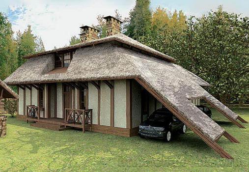 Дом в стиле шале chl-14-01 вид сзади