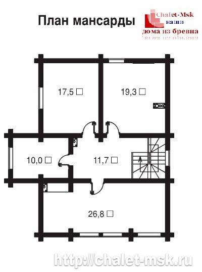 Дом из бревна bv-14-05 второй этаж
