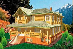Дом из бревна проект BV-14-06