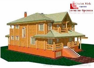 Дом из бревна bv-14-06 вид 1