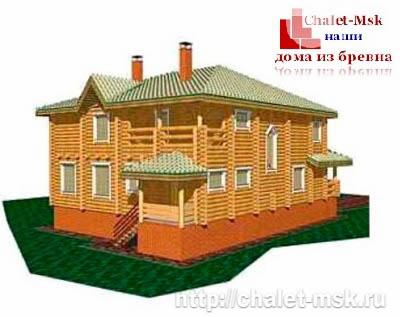 Дом из бревна bv-14-06 вид 2
