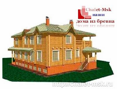 Дом из бревна bv-14-06 вид 3
