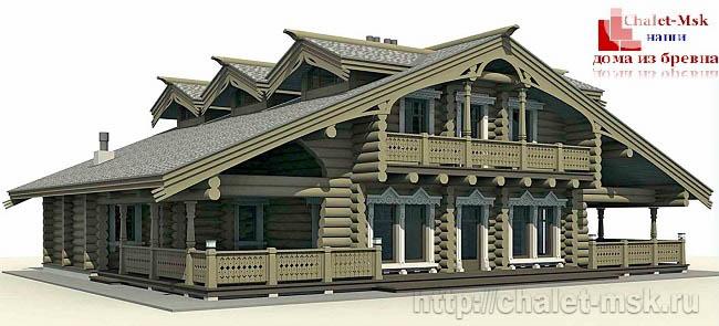 Деревянный сруб, дом из бревна проект BV-14-07