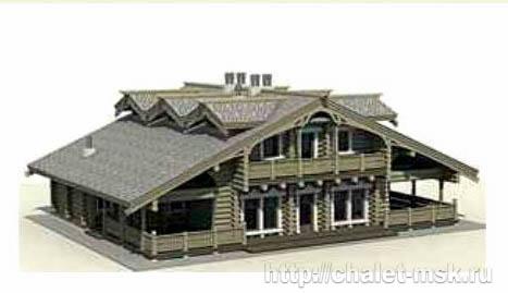 Дом из бревна bv-14-07 вид 1