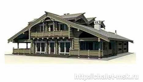 Дом из бревна bv-14-07 вид 2