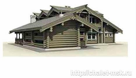 Дом из бревна bv-14-07 вид 3