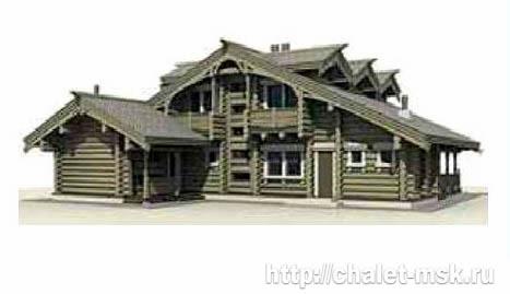 Дом из бревна bv-14-07 вид 5