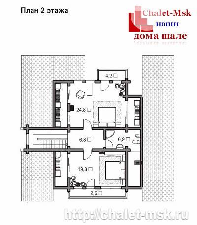 Дом в стиле шале chl-14-09 второй этаж