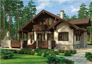 Дом в стиле шале chl-14-09