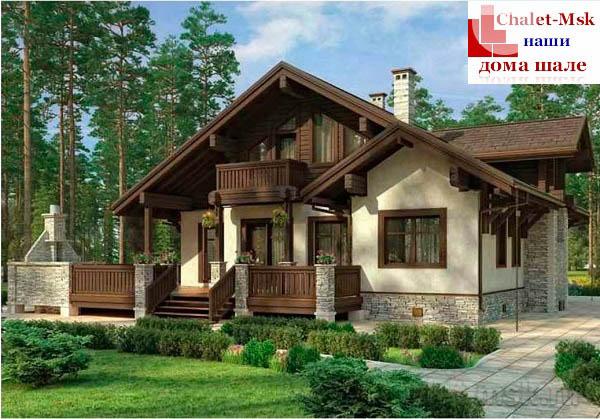 Дом в стиле шале chl-14-09 общий вид