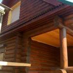 сруб дома из бревна