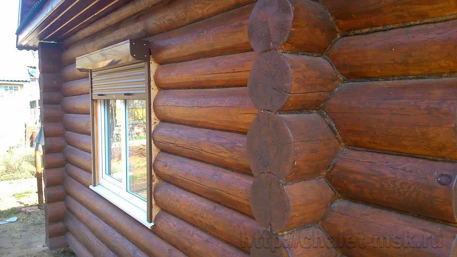 дом из бревна с верандой