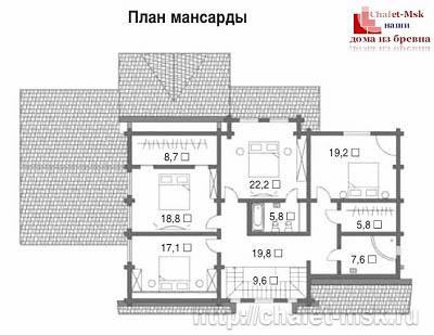 Дом из бревна bv-14-09 второй этаж