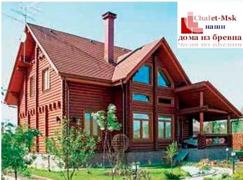Дом из бревна bv-14-10 недорогой проект