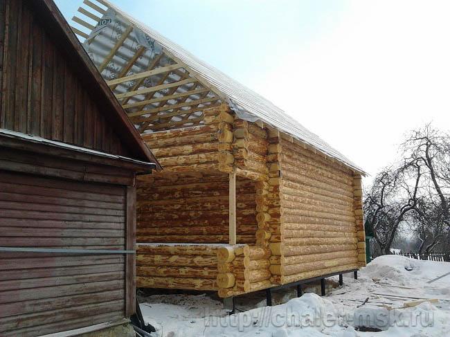 Сруб дома из бревна проект bv 14 11