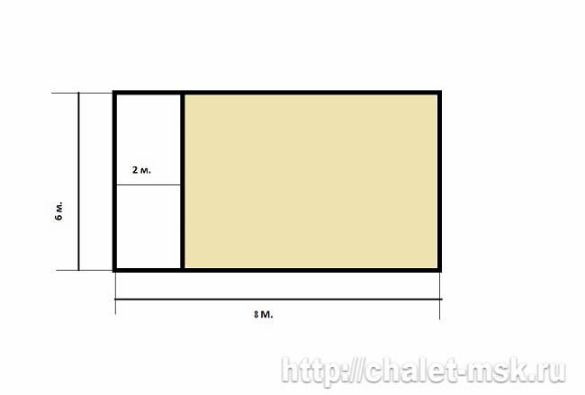 План дома из бревна bv-14-11 первый этаж