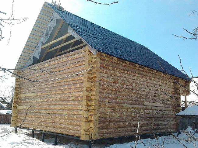 Проект дома из бревна BV-14-11 вид 3