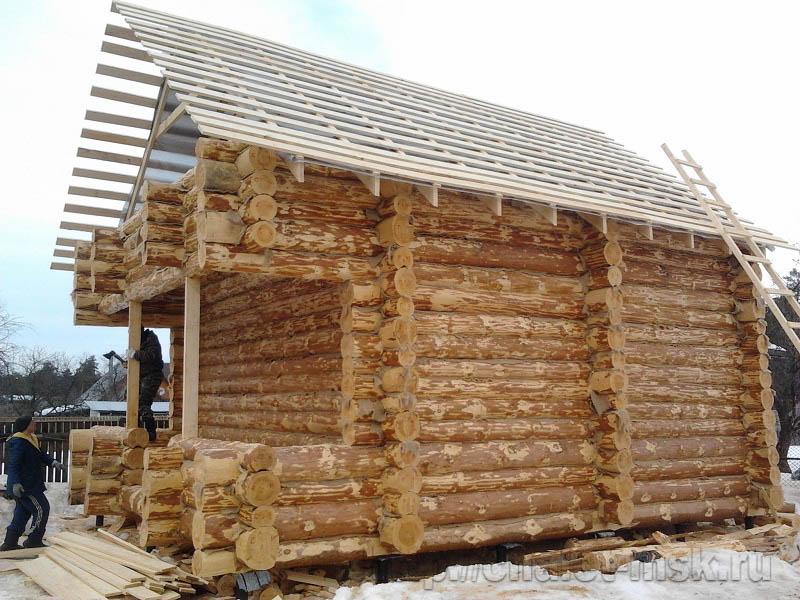 Дом из бревна проект BV-14-12 вид т. 8(906)054 15 44