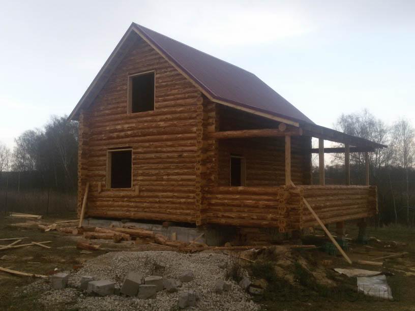 Дом из бревна bv 14 14