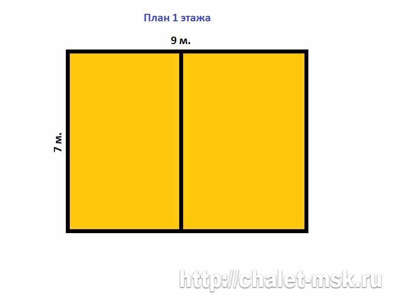 План дома из бревна BV 14 15